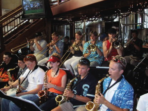 Summit High Jazz Band at the Dillon Dam Brewery