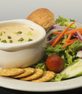 Seafood Chowder with Brewhouse Salad