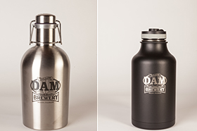 Stainless and Hydroflask Growlers